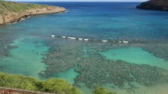Oahu Hanauma Bay beautiful colors 4k Stock Footage