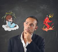 Good and evil - stock photo