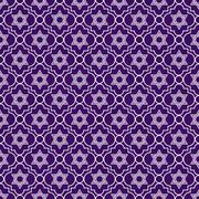 purple and white star of david repeat pattern background - stock illustration
