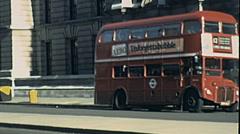 London 1979: double decker bus in the street - stock footage