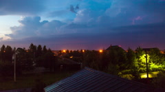 Timelapse of lightning in the city Stock Footage