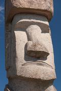 Rapa Nui Statue in Viterbo, Italy Stock Photos