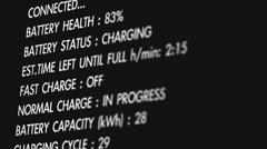 4K 1080 Electric Vehicle Car Charging Station Display Macro 5 Stock Footage