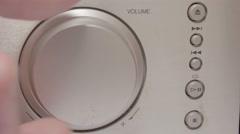 Turning a volume knob 4K Stock Footage