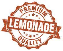 lemonade brown grunge seal isolated on white - stock illustration