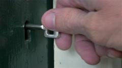 Door lock turning 4K - stock footage