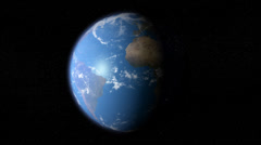 Earth spinning day to night Stock Footage