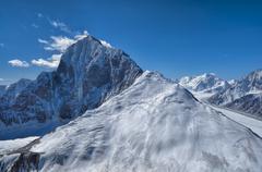 Mountain peak in Tajikistan Stock Photos