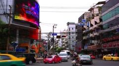 BANGKOK 2014 August 2. Traffic on the road of Bangkok. Thailand Stock Footage