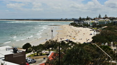 Caloundra beach in Australia TL 4K Stock Footage