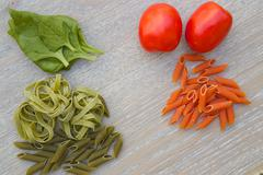 Colorful Italian dried pasta - stock photo