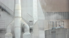 Factory, pollution, smoke, chimney Stock Footage