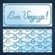 Nautical flayers - Bon Voyage - stock illustration