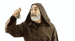 Friar calling bell Stock Footage