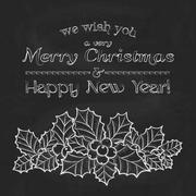 Merry Christmas and Happy New Year background Stock Illustration