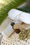 Cardamom essential oil Stock Photos