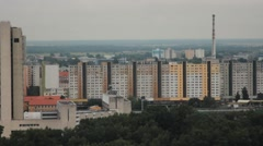 Shot of city view in Bratislava, Slovakia Republic Stock Footage