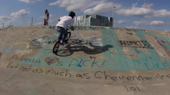 BMX Trick -540 to footjam tail whip - Extreme Sports Stock Footage