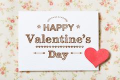 Happy Valentine's Day card - stock photo