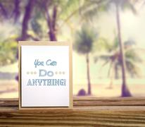 You Can Do Anything! - stock photo