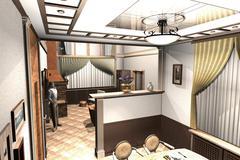 Stock Illustration of Cottage Interior