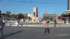 Center Downtown Taksim - stock footage