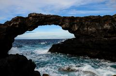 Natural Stone Arch - stock photo