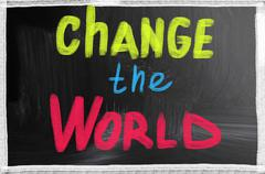 Change the world Stock Photos