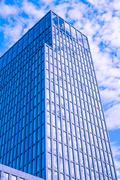Offices with sky reflection - stock photo