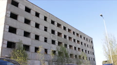 Abandoned Block of Flats 1 Stock Footage