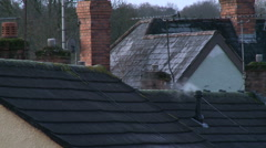 Suburban roof tops Stock Footage