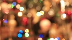 Defocused abstract christmas lights Stock Footage