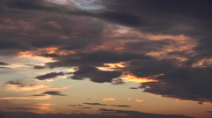 ULTRA HD 4K Dramatic sky colorful cloud cloudscape twilight sunset sunrise light Stock Footage