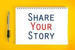 Share Your Story Concept - stock photo