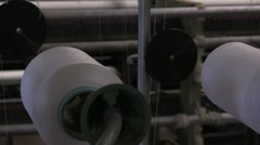 Textil factory, machines Stock Footage