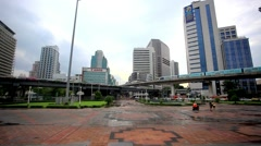 landscape of Bangkok city day view with main traffic. HD. 1920x1080 - stock footage