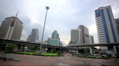 Landscape of Bangkok city day view with main traffic. HD. 1920x1080 Stock Footage