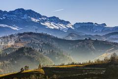 Bucegi mountains - stock photo