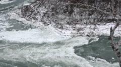 Whirlpool  NiagaraFalls Winter 01osv Stock Footage