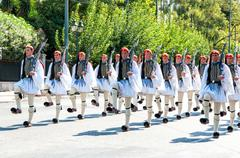 ATHENS, GREECE - a special unit of the Hellenic Army - stock photo