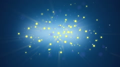 Glowing Particles - blue Stock Footage