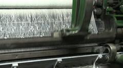 Textil machine, factory Stock Footage