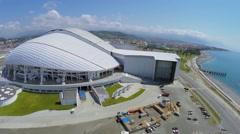 Olympic complex with stadiums Fisht, Bolshoy and Shaiba Stock Footage