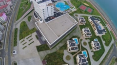Hotel complex Radisson Blu and town-hotel Barhatnye Sezony Stock Footage