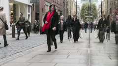 Covent Garden shopping time lapse Stock Footage