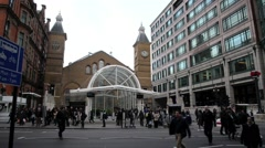 London Liverpool Street Mainline Railway Station 9 Stock Footage