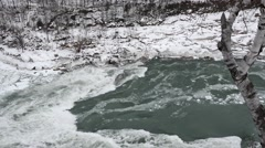 Whirlpool  NiagaraFalls Winter 05osv Stock Footage