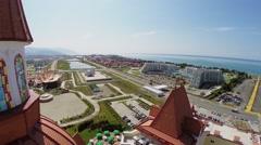 Bogatyr hotel near amusement park and hotel Radisson Blu Stock Footage
