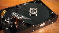 Spinning Hard Drive Stock Footage