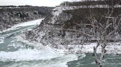 Whirlpool  NiagaraFalls Winter 02osv Stock Footage
